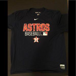 Nike dri fit Houston Astro MLB BLUE T SHIRT